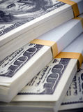 Pack of dollars Stock Image