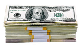 Pack of dollars Royalty Free Stock Photos