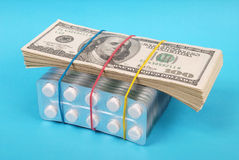 Pack of dollars Royalty Free Stock Image