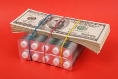 Pack of dollars Royalty Free Stock Images
