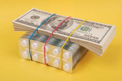 Pack of dollars Stock Photos