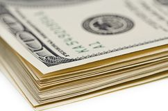 Pack of dollars. Royalty Free Stock Photo