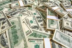 Pack of dollars. Studio photography of American moneys of hundred dollar Royalty Free Stock Photos