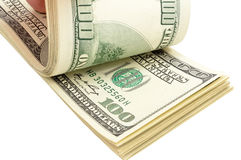 Pack of dollars Stock Photo