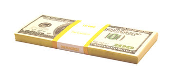 Pack with dollars Stock Image