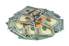 Pack of dollars. On a white background royalty free stock images
