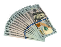 Pack of dollars. On a white background royalty free stock photos