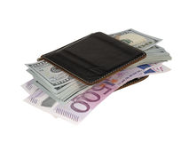 Pack of dollars. On a white background royalty free stock photo