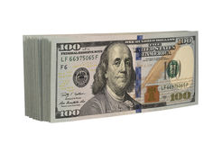 Pack of dollars. On a white background royalty free stock photography