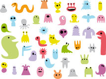 Pack of doodle monsters Stock Image