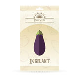 Pack of eggplant seeds Stock Photo