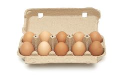 Pack of eggs Stock Image