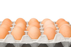 Pack of eggs Stock Photos