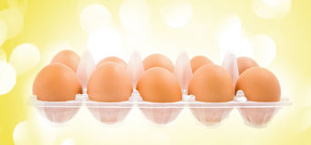 The pack of eggs Royalty Free Stock Photography