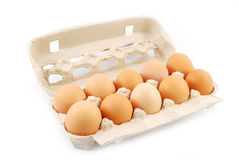 Pack of eggs Stock Photography