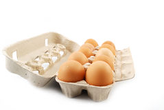 Pack of eggs Royalty Free Stock Photo