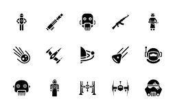 Star wars glyph pack. The pack is embedded with the icons i e not just best fit for star war buffs but for those interested in comical adventure, fighting games vector illustration