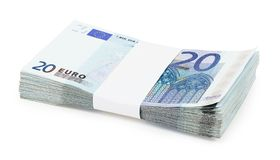 Pack Of Euros Royalty Free Stock Image