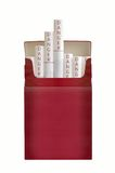 A pack of filtered cigarettes. Against white background Stock Photo
