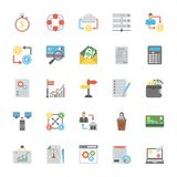 Pack Of Finance and Accounting Flat Icons. Here is a set of finance flat vector icons designed with a great attention to detail. This extensive collection will Royalty Free Stock Photos