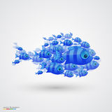 Pack of fish. Vector. Pack of fish art icon. Vector illustration Royalty Free Stock Photo