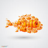 Pack of fish. Vector Royalty Free Stock Images
