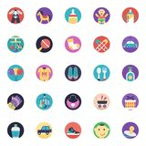 Baby and Kids Flat Vector Icons Pack royalty free illustration