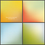 Pack of four colorfully mesh backgrounds with soft patterns. Royalty Free Stock Photos