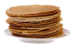 Pack of fresh baked krumkakes Stock Photo