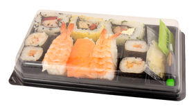 Pack Of Fresh Fish Sushi Royalty Free Stock Photos