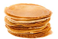 Pack of freshly waffle cookies brightened Royalty Free Stock Photography