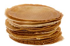 Pack of freshly waffle cookies Royalty Free Stock Photography