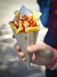 Pack of fries Royalty Free Stock Photos