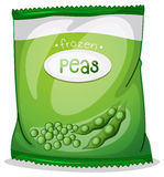 A pack of frozen peas Stock Photos