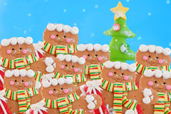 Pack of gingerbread men Stock Images