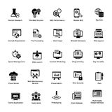 Glyph Icons Design Pack Web and Graphic Designing Royalty Free Stock Image