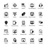 Solid Icons Design Set Web and Graphic Designing. This is a pack of glyph icon designs for web and graphic designing. The creative idea of merging both genres in Stock Images