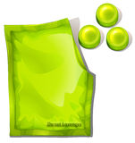 A pack of green throat lozenges Stock Photo
