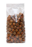 Pack of hazelnuts Stock Image