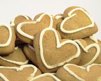 Pack of heart cookies Royalty Free Stock Photos