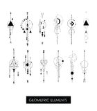 Pack of high quality geometric elements. Sacred geometry Stock Photos