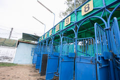 Pack Horse racing is no competition. The racecourse is no competition in Thailand stock images
