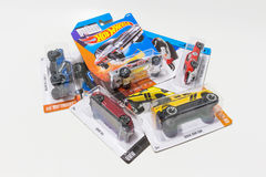 Pack of Hot Wheels die cast car toy Stock Photography