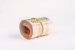 Pack of 500 hryvnia rolled Royalty Free Stock Photography