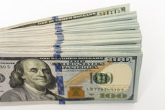 Pack of hundred dollar banknotes a lot of money Royalty Free Stock Photography