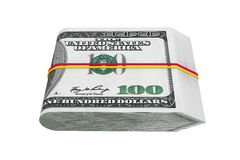 Pack of Hundred Dollars Royalty Free Stock Photography