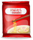 A pack of an instant noodles. Illustration of a pack of an instant noodles on a white background Stock Photo