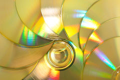 Pack of laser disks Royalty Free Stock Photography