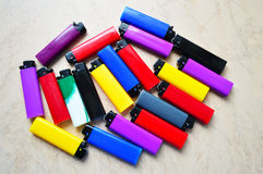 A pack of lighters Royalty Free Stock Photography