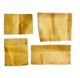 Pack of little pieces of paper held by an adhesive Royalty Free Stock Photography
